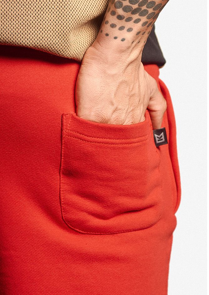 KRCKBRND Shorts Red Black Krack backpocket 1 1